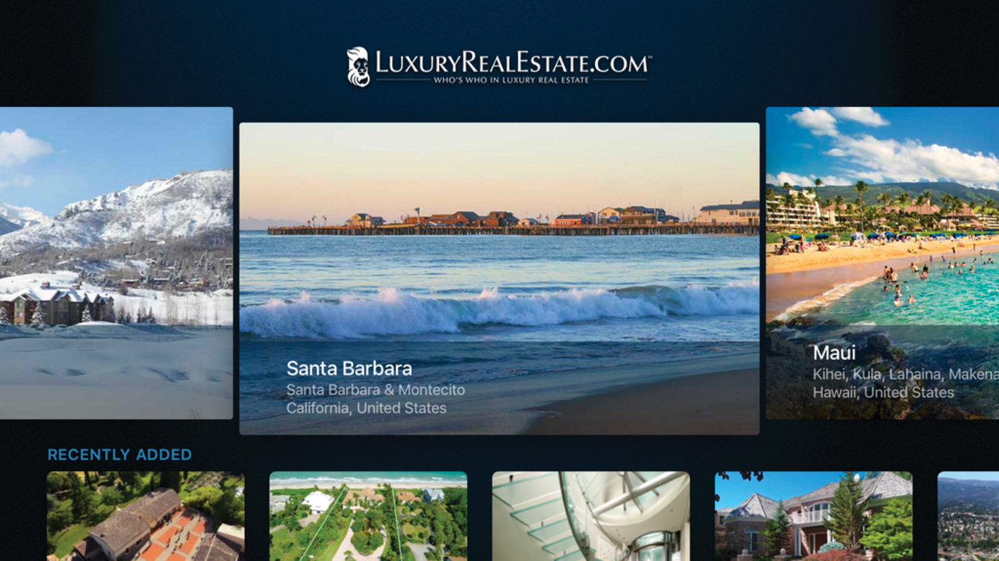 Luxury Real Estate Apple TV app